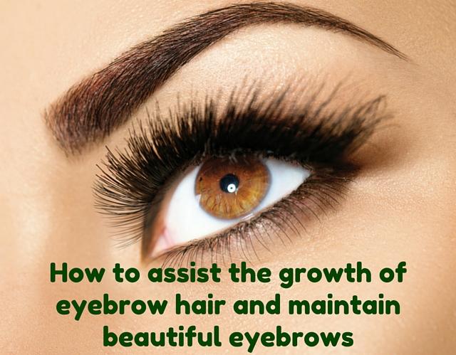 Grow eyebrow hair and maintain beautiful eyebrows