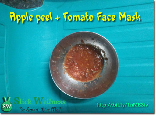 My quick Apple Peel + Tomato Face Mask Recipe