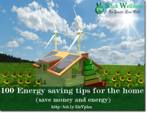 100 Energy saving tips for the home (save money and energy)