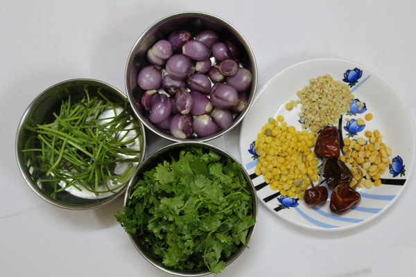 Coriander-chutney-recipe-Ingredients