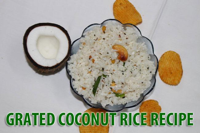 Grated Coconut Rice Recipe - Thengai Saatham