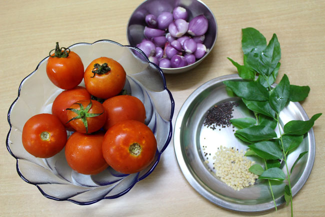 Tomato chutney recipe-Main Ingredients