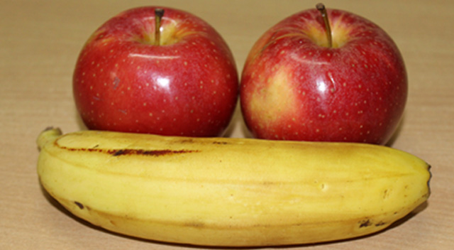 banana and/or apple