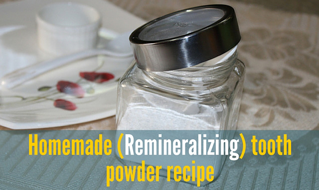 Homemade (Remineralizing) tooth powder recipe