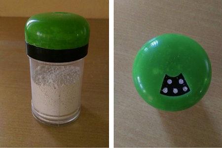 TOOTHPOWDER PLASTIC CONTAINER