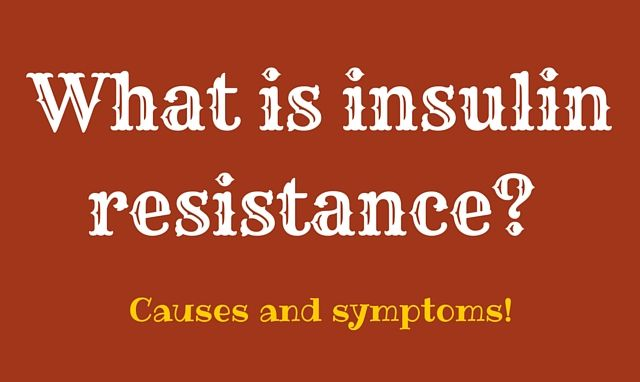 What is insulin resistance (syndrome)?