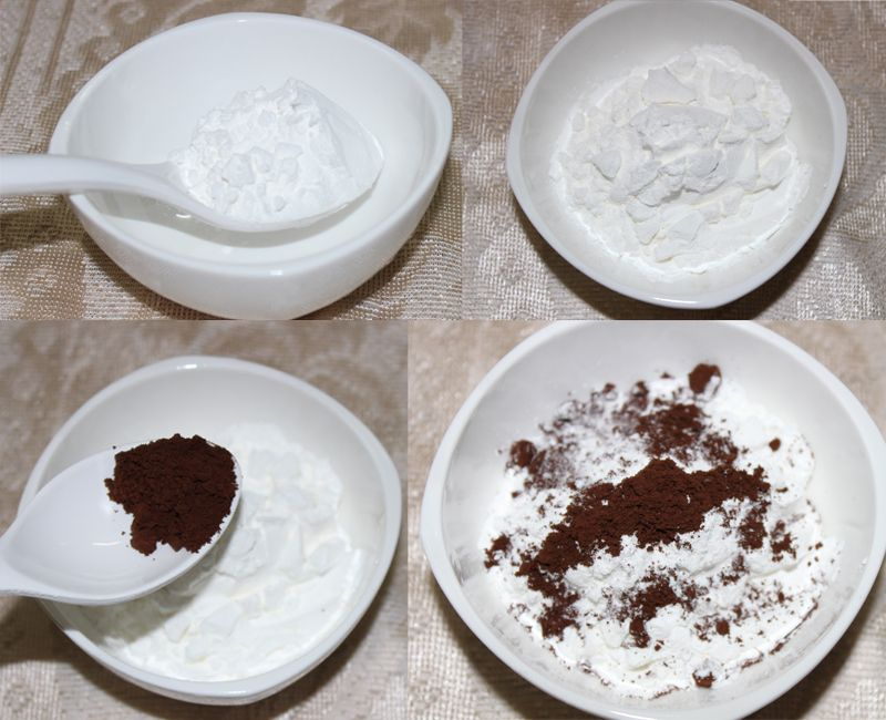 arrowroot and Cocoa powder