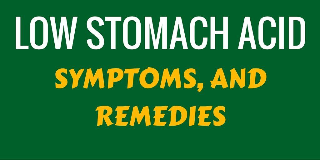 Low Stomach Acid Digesting Food