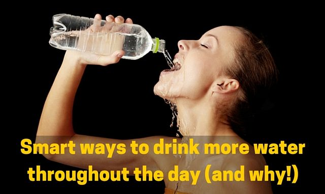 How to drink more water throughout the day even if you are busy?