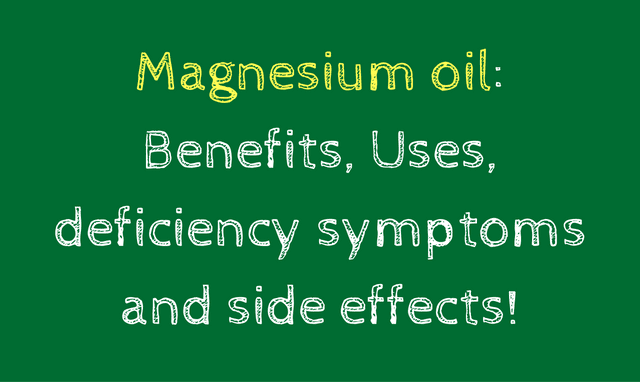 What are the benefits of Magnesium Oil?