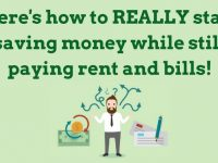 How to REALLY start saving money while still paying rent and bills