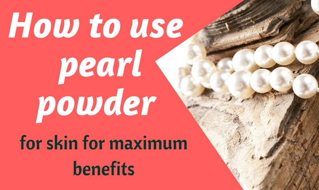 Pearl powder for skin