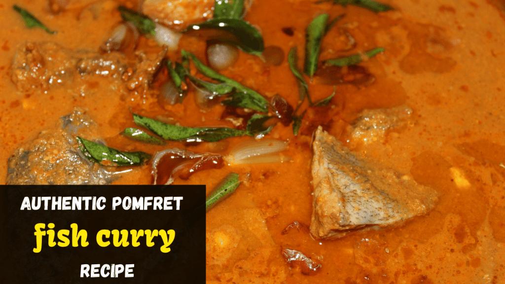 Authentic Pomfret fish curry recipe | Vaaval Meen Kuzhambu recipe