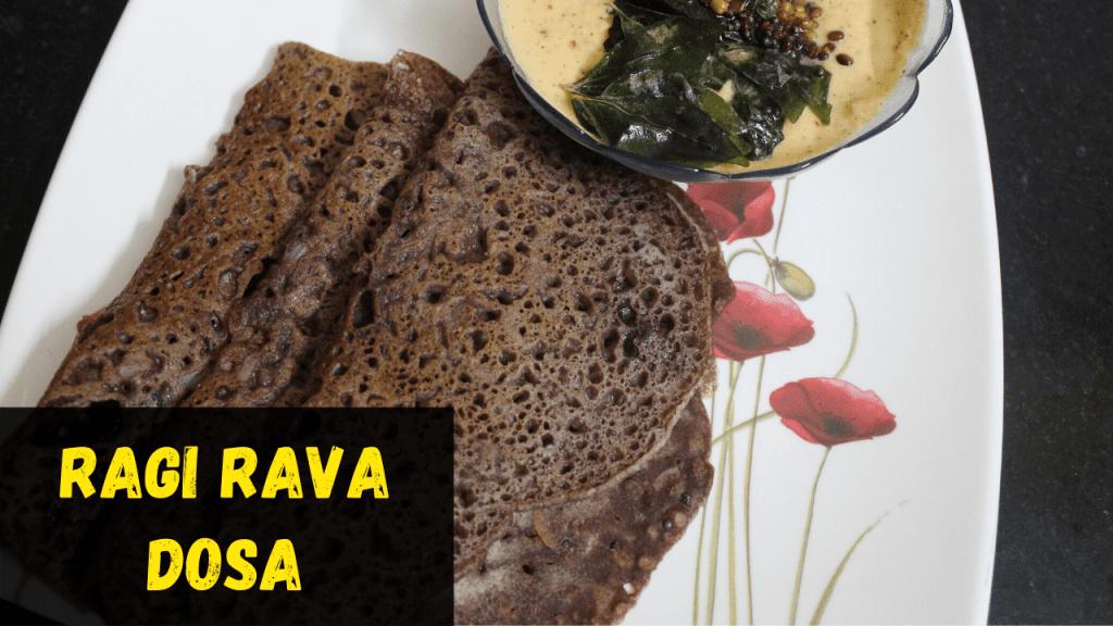 Instant Ragi Rava Dosa Recipe | Instant Finger Millet Rava Dosa